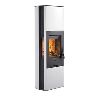 Wood Burning Stove Contura 35 high in white