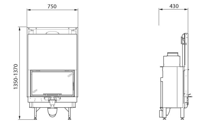 contura i30 with panorama door fireplace insert