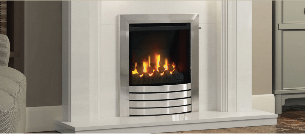 HIGH EFFICIENCY MID-DEPTH INSET GAS FIRE