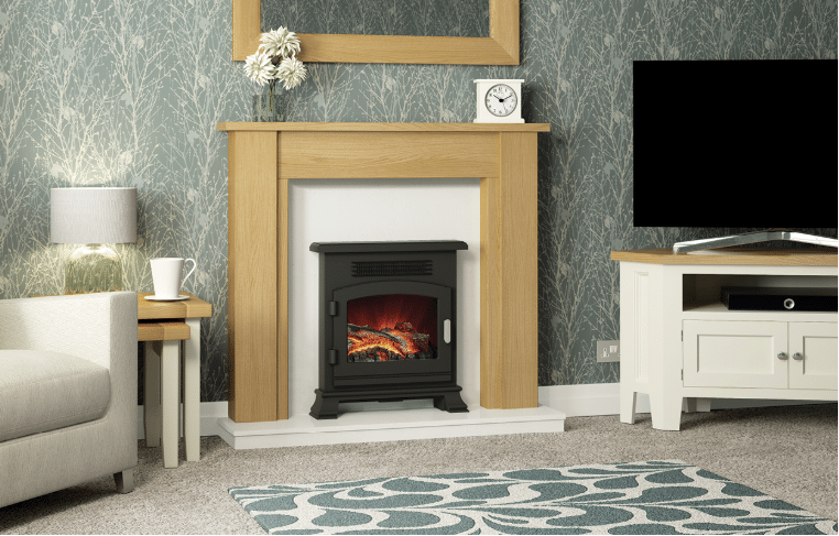 "44"" or 48″ Hainsworth surround in Natural Oak finish"