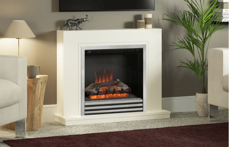 """38"""" Colby electric fireplace in Soft White finish"""