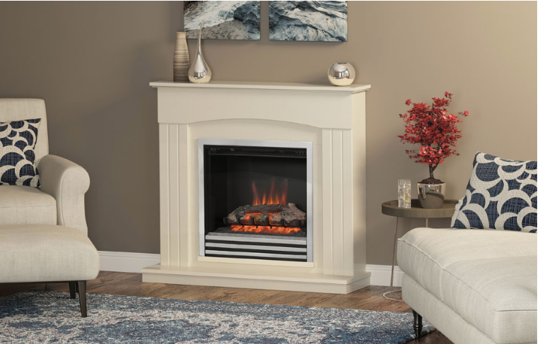 """44"""" Linmere electric fireplace in Almond Stone effect"""