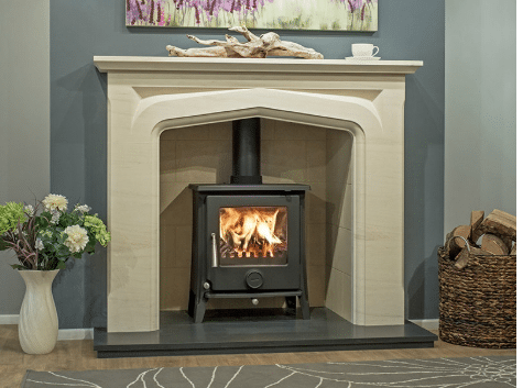 The Pedrosa Limestone Fireplace