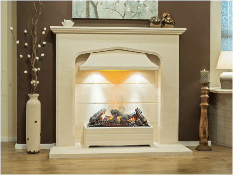 The Siena Limestone Fireplace
