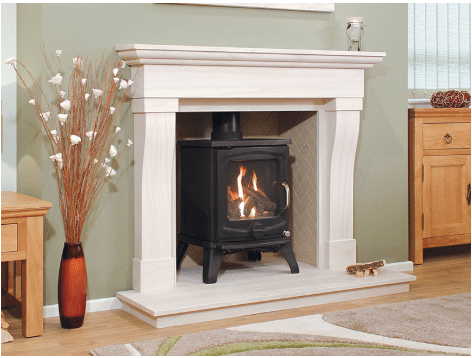 The Beja Limestone Fireplace