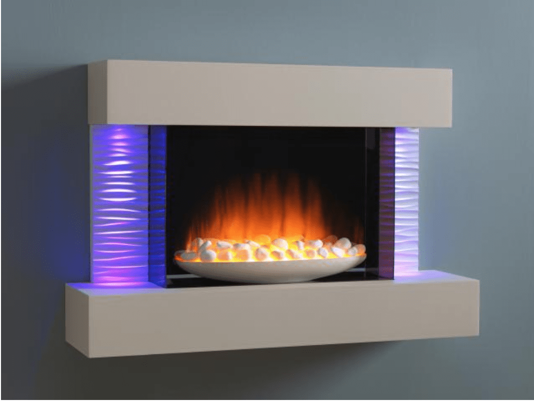 Flamerite Luma 900 Wall Mounted Electric Fire Suite